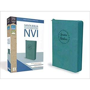 SANTA BIBLIA DE PREMIO Y REGALO NVI, AQUA CON CREMALLERA LEATHERSOFT