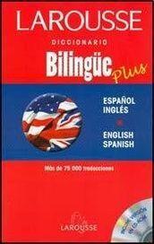 DICCIONARIO BILINGÜE PLUS  ESPAÑOL INGLÉS I-E. CON CD