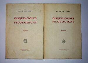 DISQUISICIONES FILOLÓGICAS TOMO I